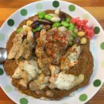 池袋 火星カレー 鶏カレーと豆トッピング