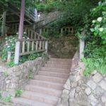 飛鳥の小径 飛鳥山への階段